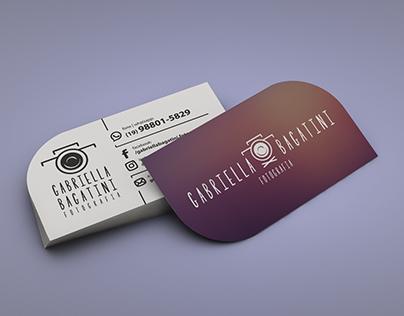 Logotipo e cartão de visita – Gabriella Bagatini