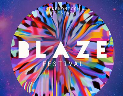 Blaze Music Festival- poster design