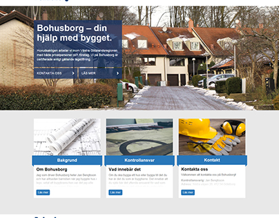 Homepage for bohusborg.se
