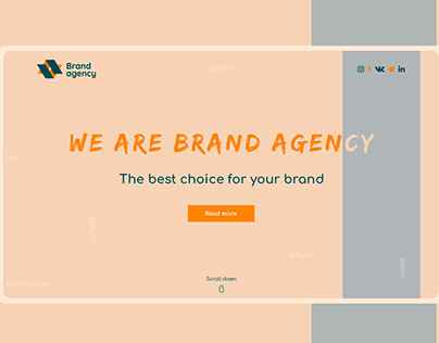 Landing Page for Brand Agency
