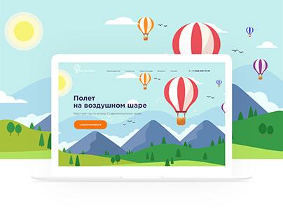 Landing page - air balloon