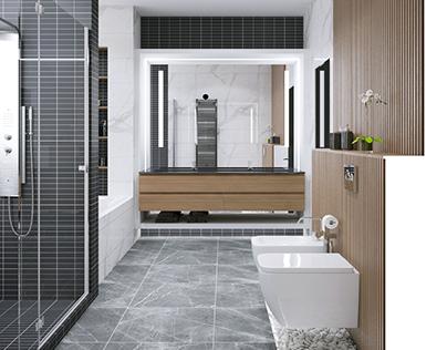 Bathrooom interior design. Saint-petersburg
