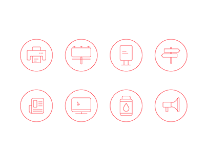 Icons for an advertising agency website