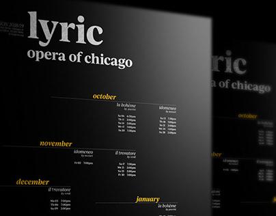 LYRIC OPERA OF CHICAGO typography poster