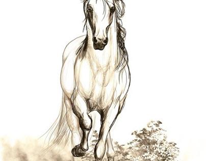 Horses: furniture print design