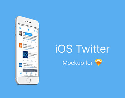 iOS Twitter Mockup for Sketch