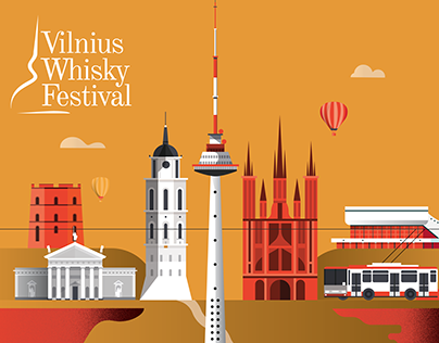 Vilnius Whisky Festival - Illustration Campaign
