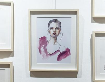Milan Zejak - Fashion Illustrations; exhibition