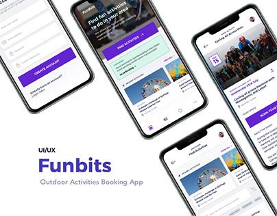 Funbits - Outdoor Activity Booking App UX/UI Design