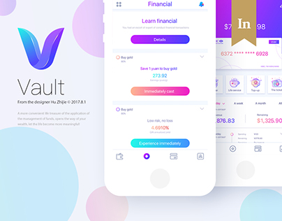 Vault financial app design