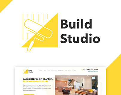 Landing page for apartment repair company