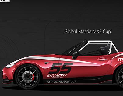 Mazda MX-5 Cup vector template