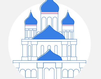 Key buildings - illustrations
