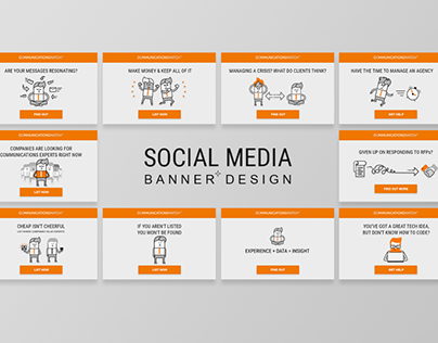 Set of Social Media banners