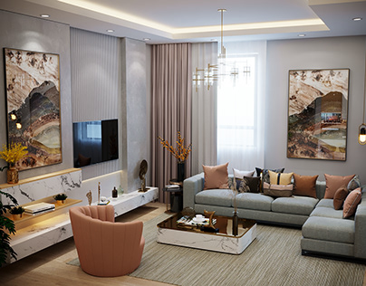 Living Room , Villa In Saudi Arabia ..