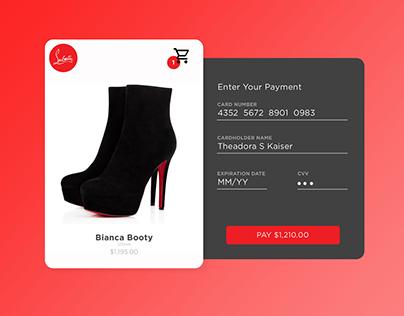 Daily UI | Christian Louboutin Payment Screen