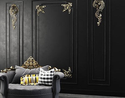 3d modeling of a decorative wall