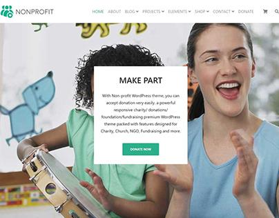 Call To Action Section - Nonprofit WordPress Theme