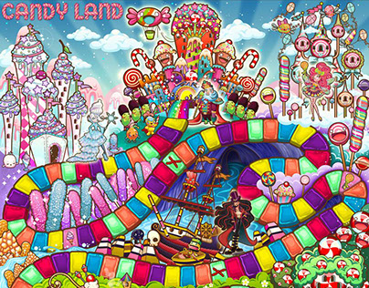 Candyland Game Board Design for HASBRO