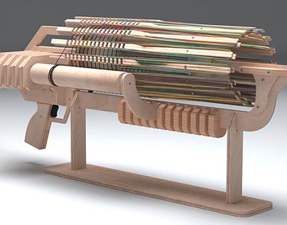 Wooden Gatling Gun