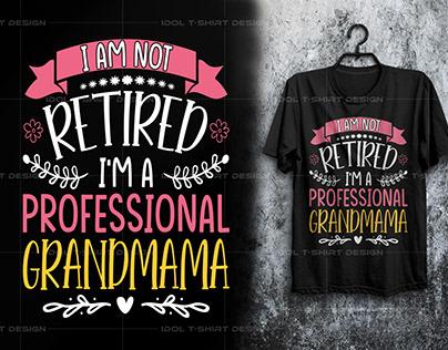 Grandma T-shirt Design Grandma |T-shirt design mom girl