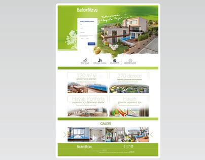 Bademli Teras Landing Page Sayfa Çalışması