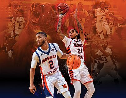 Basketball season poster for MSU Bears
