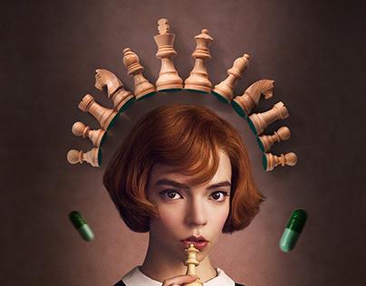 The Queen's Gambit key art / movie poster