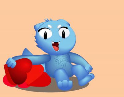 Blu cat and like