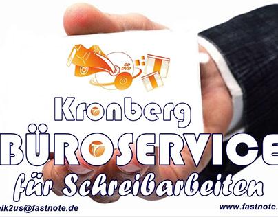 Büroservice Kronberg für manuelle Schreibarbeiten