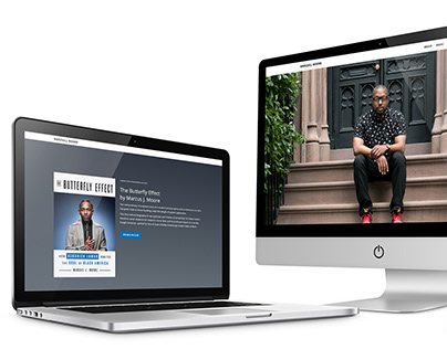 WordPress design/build for Marcus J. Moore
