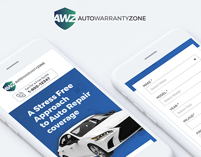 Landing Page Design for AutoWarrantyZone
