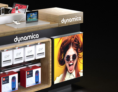Dynamica Cellular Shopping Mall Booth design and viz