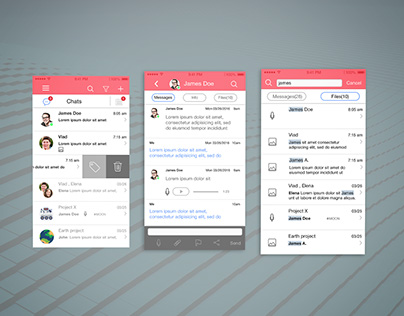 Work chat app ui