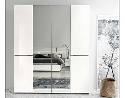 4 doorsiron cabinet for clothes