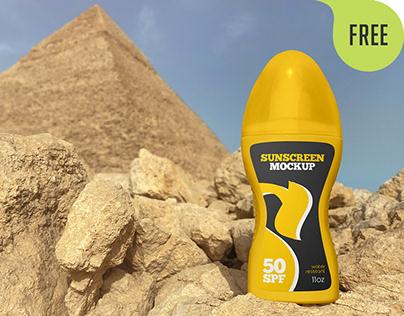 2 Free Spray Bottle Sunscreen Mockups
