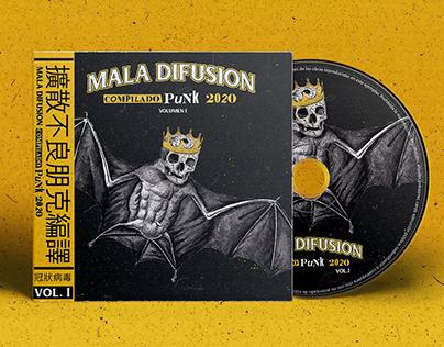 Cd Design Compilado Punk Mala Difusion 2020 Vol.1