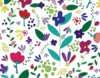 Repeating flower pattern
