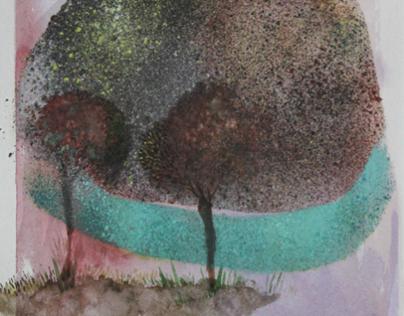 Watercolors Amorphous Landscapes