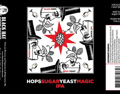 Hops Sugar Beer Label