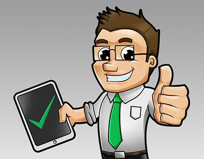 """Mr. Checlist"" - Mascot Design for Website"