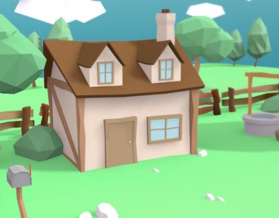 3D :: village scene