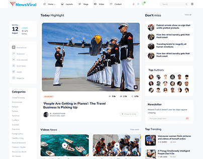 Newsviral - Modern News & Magazine HTML Template
