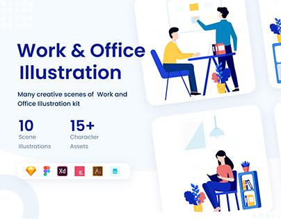 Illustration Work & Office KIT
