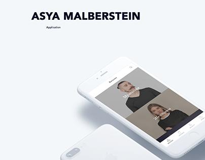 Asya Malberstein iOS mobile app