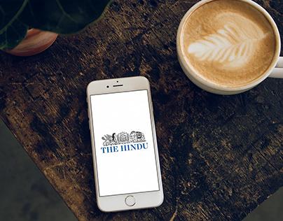 The Hindu iPhone App - UI/UX Design