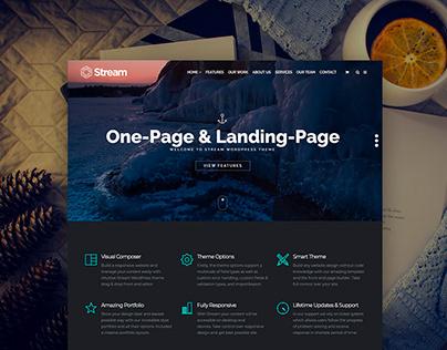 Stream WordPress Theme - One-Page