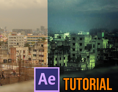 After Effects Tutorial - Realistic Rain scene
