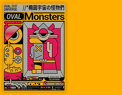 Oval monsters/Character design/Graphics & poster design