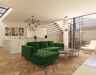 Interior visual for a project in Newbury